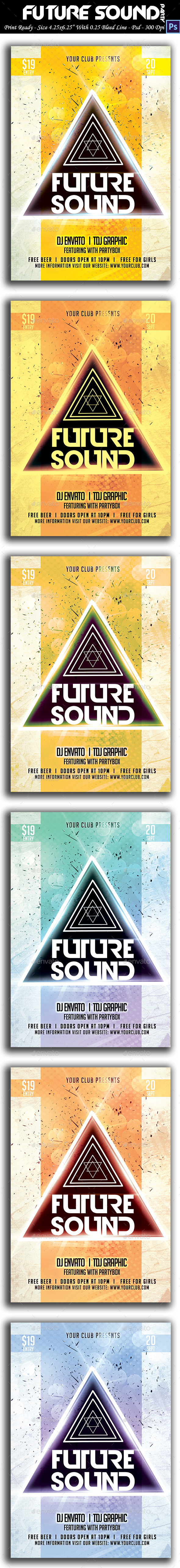 GraphicRiver Future Sound Flyer 9085819