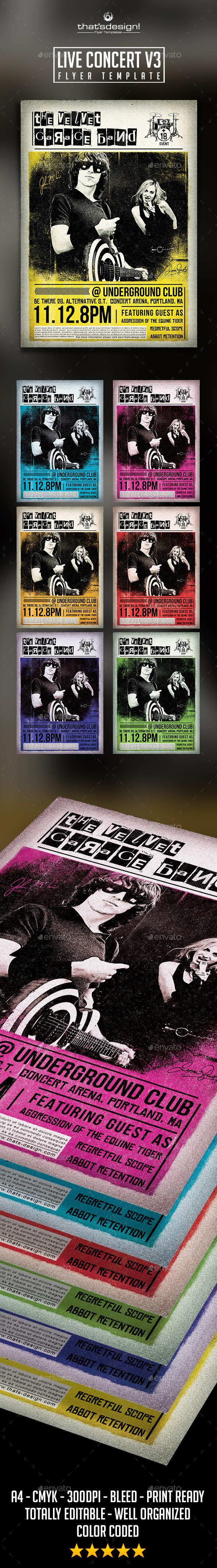 GraphicRiver Live Concert Flyer Poster Template V3 9085821