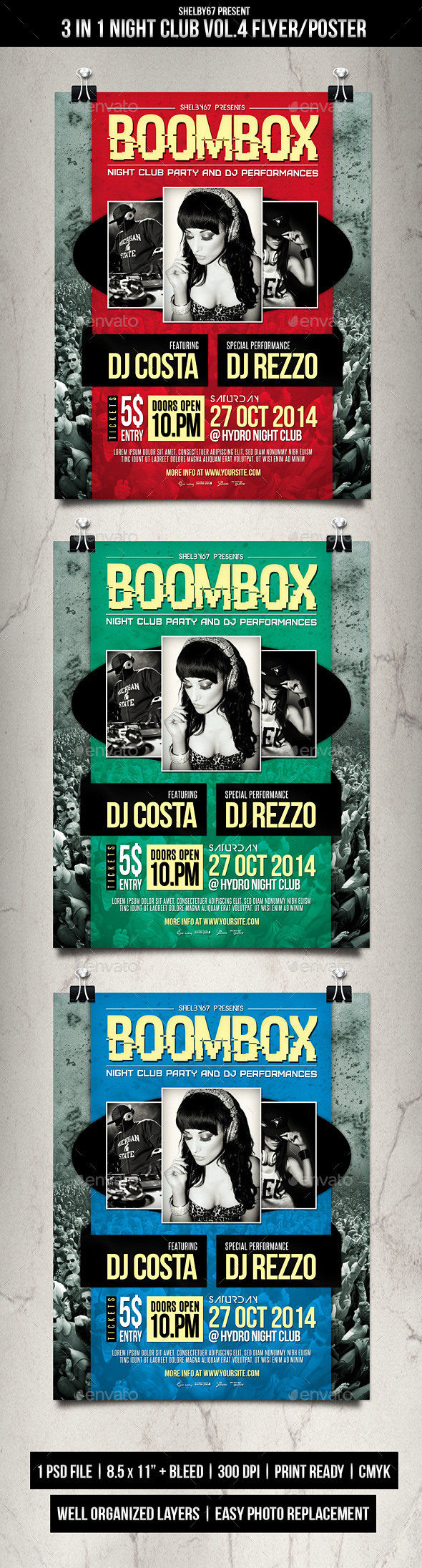 GraphicRiver Night Club Event Flyer Poster Vol.4 9085886