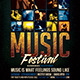 Music Festival Flyer Template - GraphicRiver Item for Sale