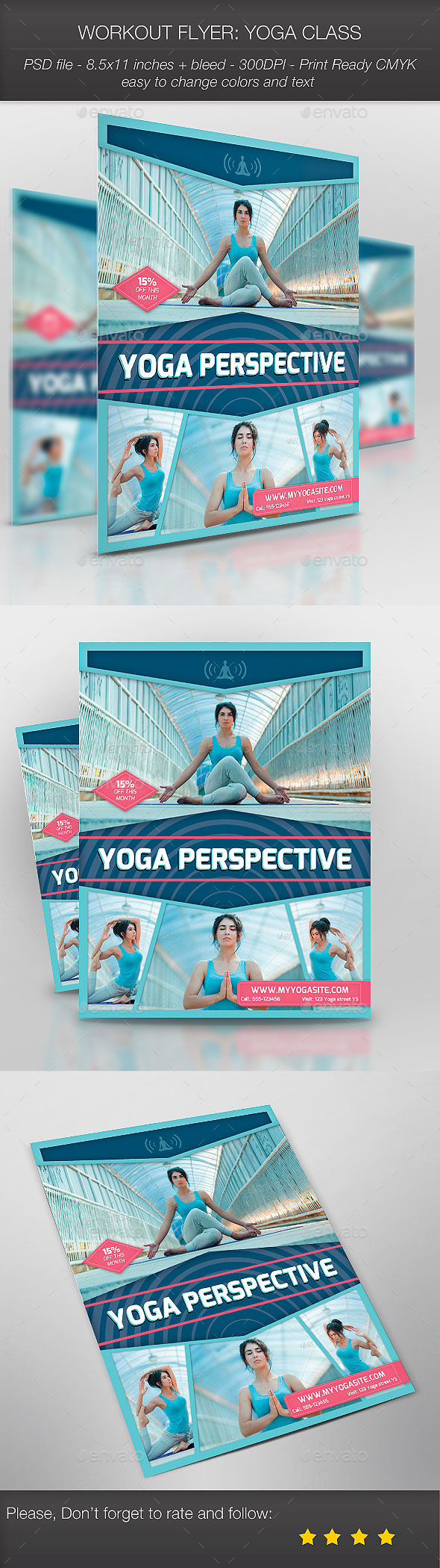Workout Flyer Yoga Class