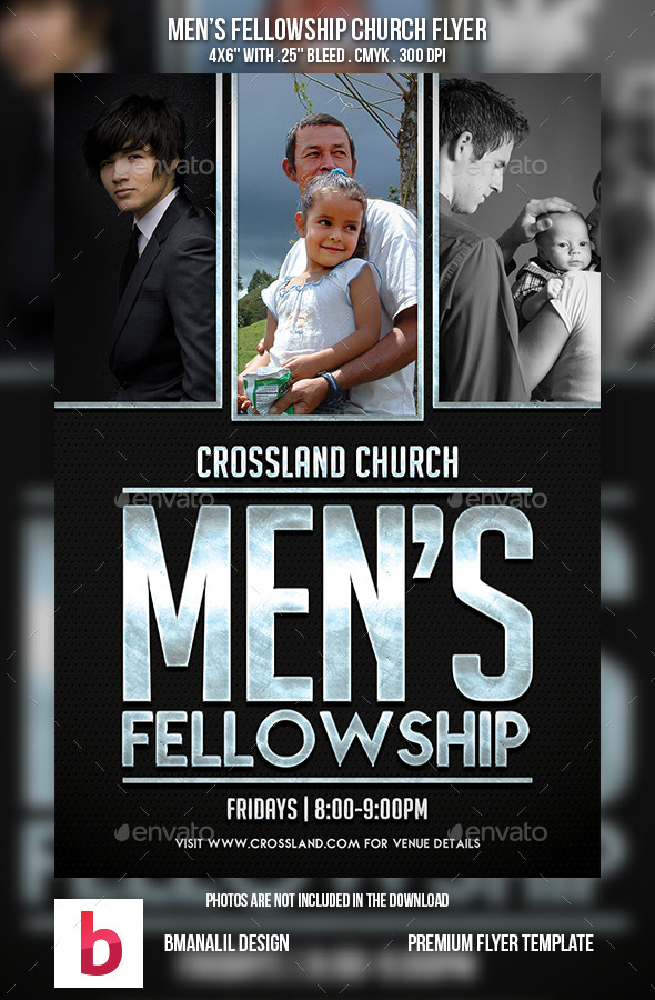 GraphicRiver Men s Fellowship Church Flyer 9086077