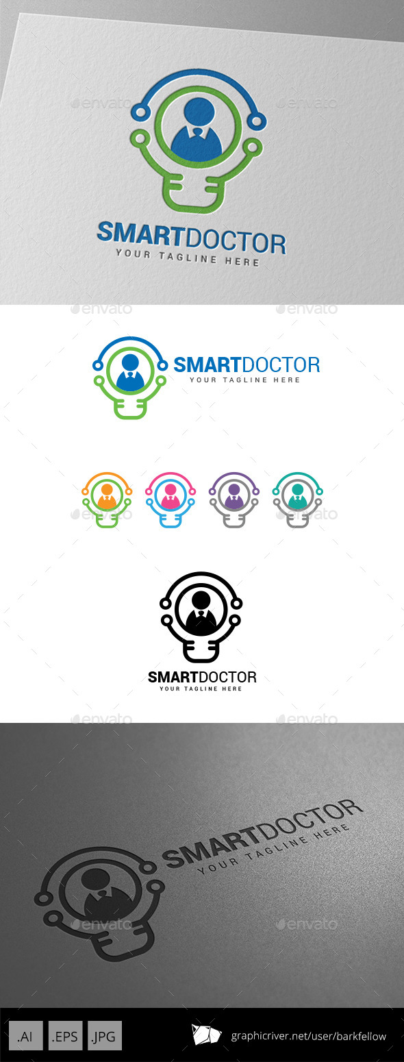GraphicRiver Smart Innovation Doctor Logo 9086092