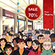Holiday Shopping Sale Scene - GraphicRiver Item for Sale