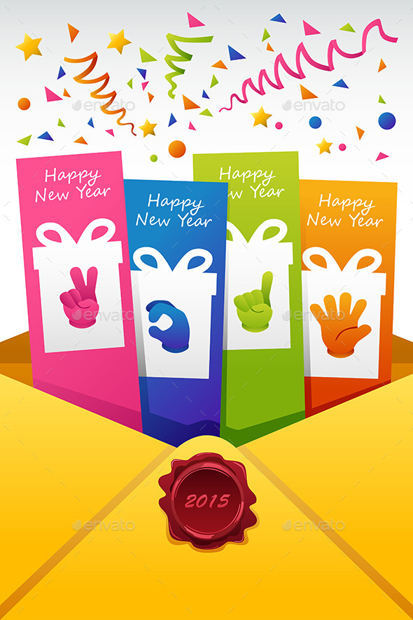 GraphicRiver New Year 2015 Sign Vector Illustration of New Year 9086216