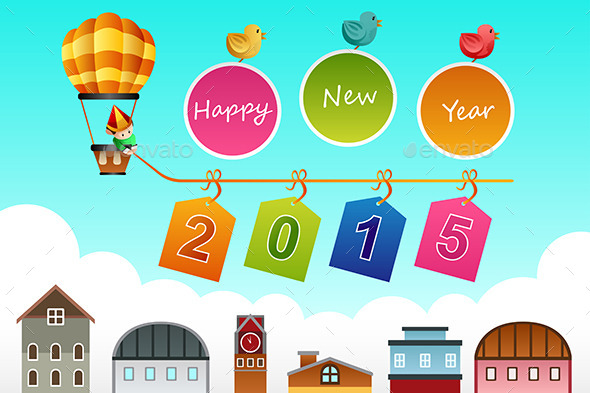 GraphicRiver New Year 2015 Sign 9086228
