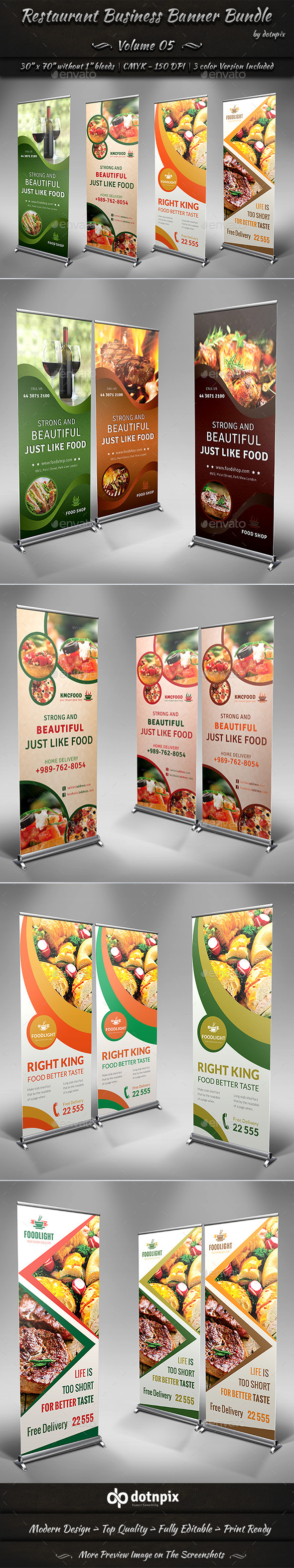 GraphicRiver Restaurant Business Banner Bundle Volume 5 9086766