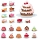 Set with Different Cakes - GraphicRiver Item for Sale