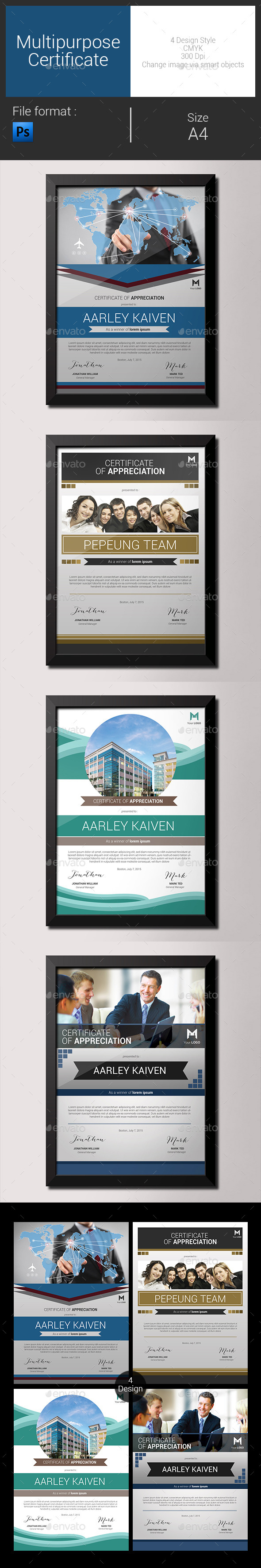 GraphicRiver Multipurpose Certificates 9086784