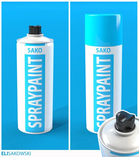 3DOcean Spray Paint Can 928000