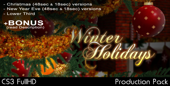 After Effects Project - VideoHive Christmas and New Year Eve intros 797731