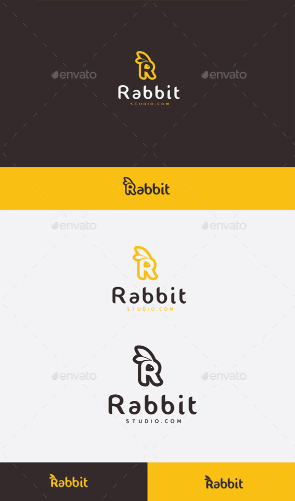 GraphicRiver R Rabbit Logo 9087314