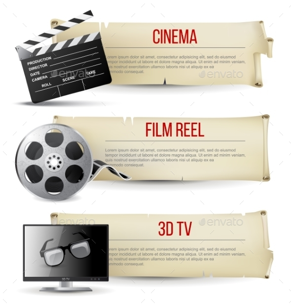 GraphicRiver Cinema Banners 9087589