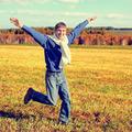 Happy Teenager running - PhotoDune Item for Sale