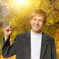 Teenager in the Autumn Park - PhotoDune Item for Sale