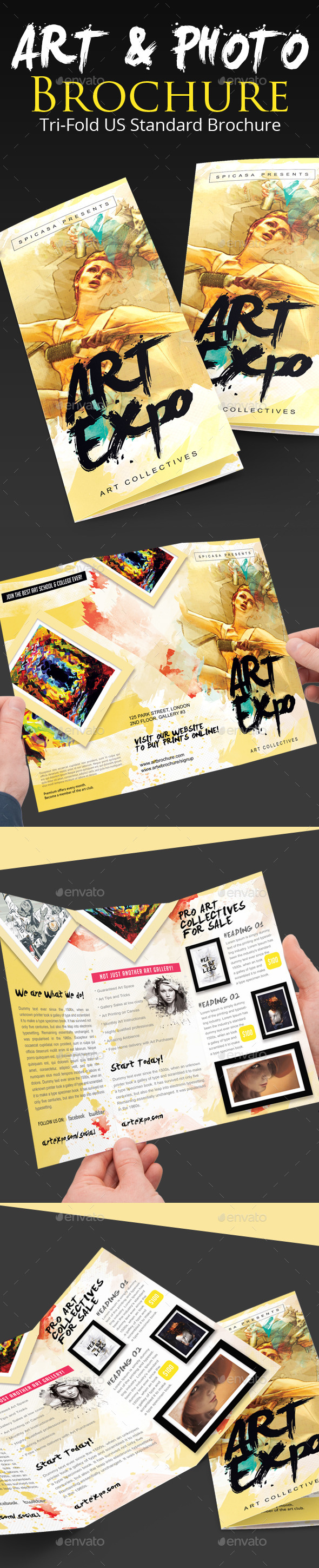 GraphicRiver Art Show Expo Trifold Brochure 9087630