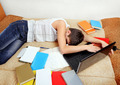 Tired Student sleeping - PhotoDune Item for Sale