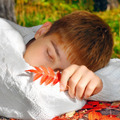 Boy sleeping outdoor - PhotoDune Item for Sale