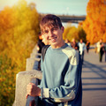 Teenager at Autumn Street - PhotoDune Item for Sale