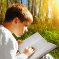 Boy with the Book outdoor - PhotoDune Item for Sale