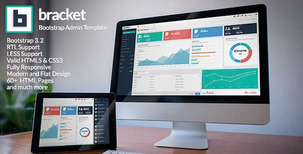 Bracket Responsive Bootstrap 3 Admin Template - Admin Templates Site Templates