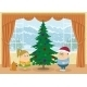 Children Decorating Christmas Fir Tree - GraphicRiver Item for Sale