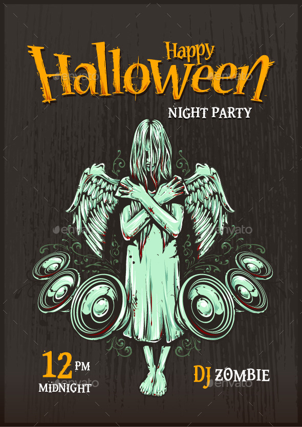 GraphicRiver Halloween Party Poster 9088230