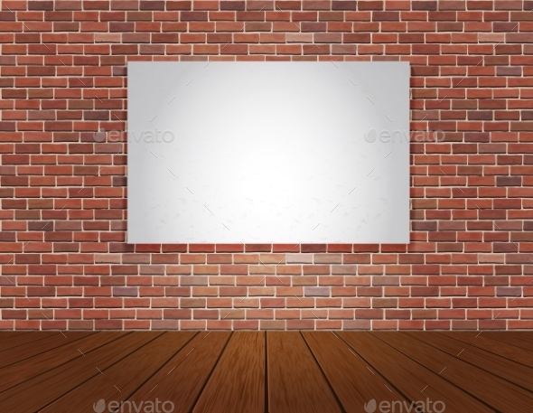 GraphicRiver Brick Wall and Wood Floor Background 9088245
