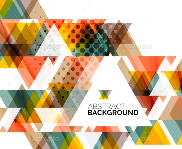 GraphicRiver Triangle Geometric Abstract Background 9088368