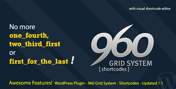 CodeCanyon 960 Grid System Shortcode 725143