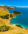 Blue water at Marlborough Sounds, South Island, New Zealand - PhotoDune Item for Sale