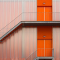 Orange Fire escape stairs - PhotoDune Item for Sale