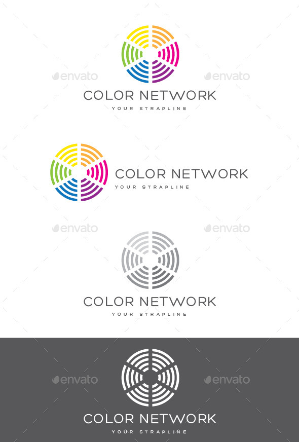 GraphicRiver Color Network Logo 9089073