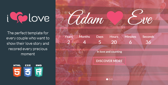 ThemeForest ilove One Page Love Story HTML Template 9033958