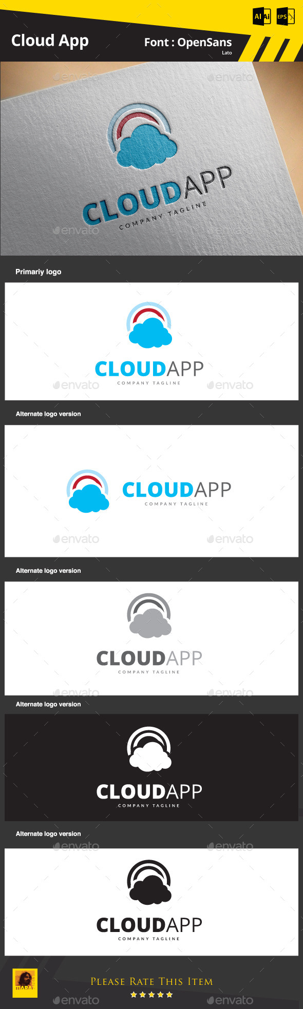 GraphicRiver Cloud App 9089145