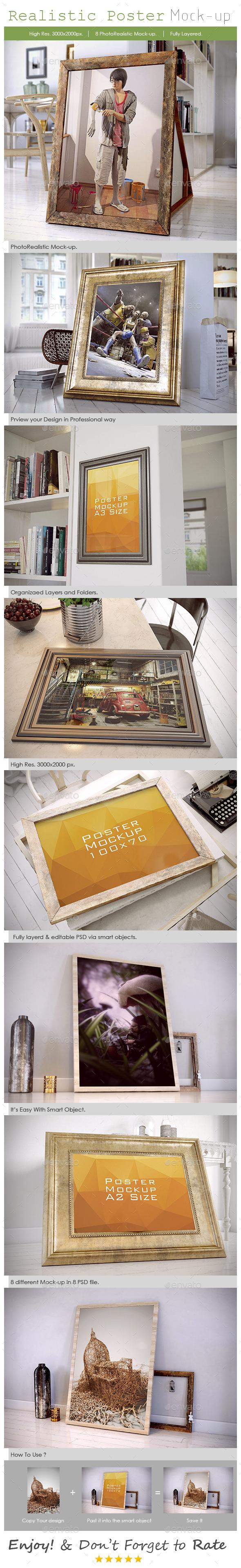GraphicRiver Realistic Poster Mockup 9085907