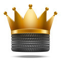 Realistic rubber tire with a golden crown - PhotoDune Item for Sale