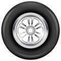 wheel and tire symbol - PhotoDune Item for Sale