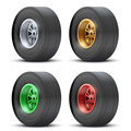 Set of sports car colorful wheels. - PhotoDune Item for Sale