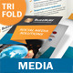 Media and Communication Trifold Brochure - GraphicRiver Item for Sale