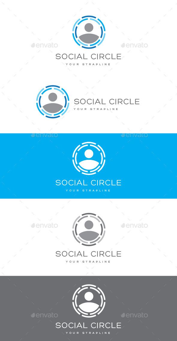 GraphicRiver Social Circle Logo 9089823