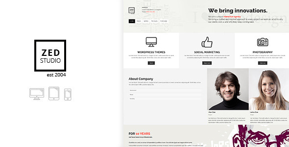 ZED Premium Portfolio and Business Theme