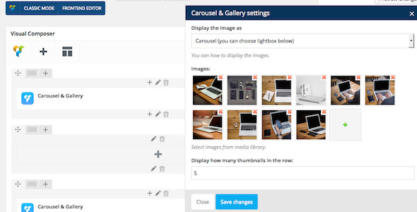 Visual Composer Add-on Carousel & Gallery