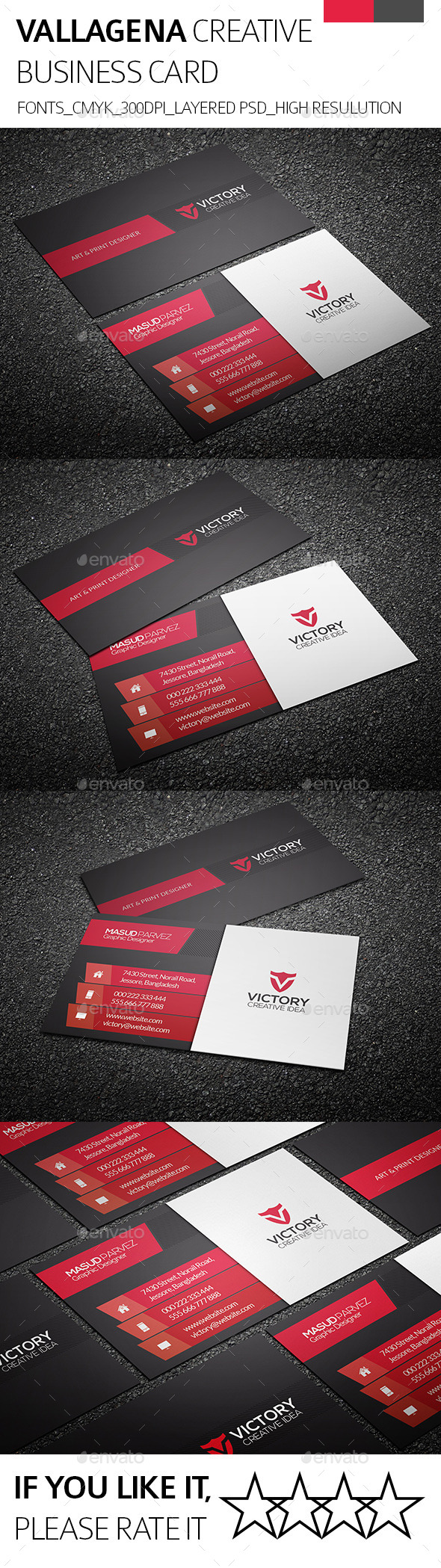 GraphicRiver Vallagena & Creative Business Card 9089981