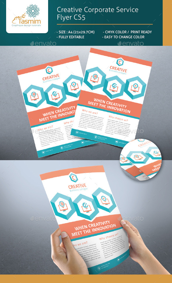 GraphicRiver Creative Corporate Service Flyer CS5 9089984