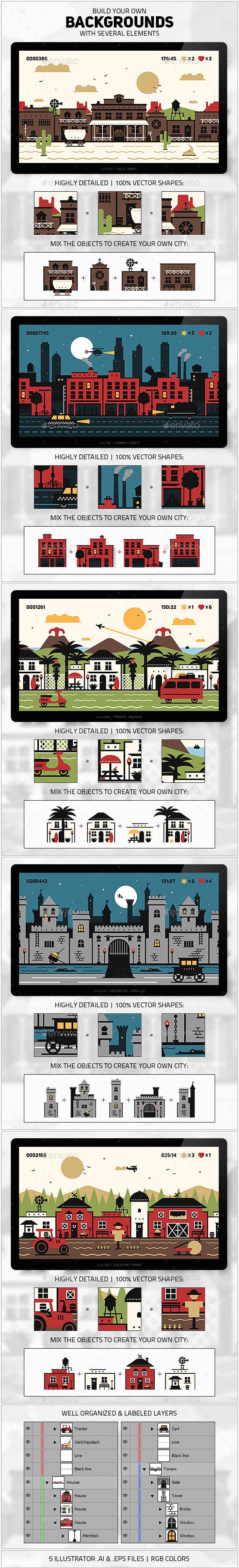 GraphicRiver Background Builder Kit 9089995
