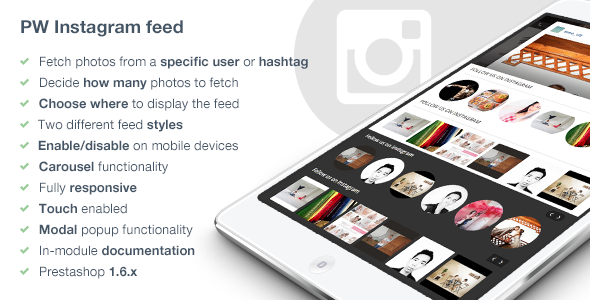 CodeCanyon Responsive Instagram Feed Carousel 9091092