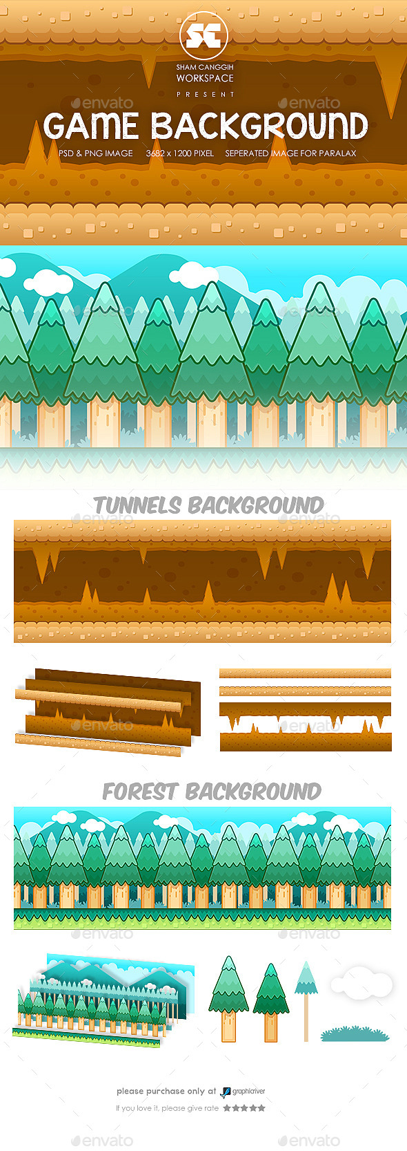 Game Background Tunnel & Forest