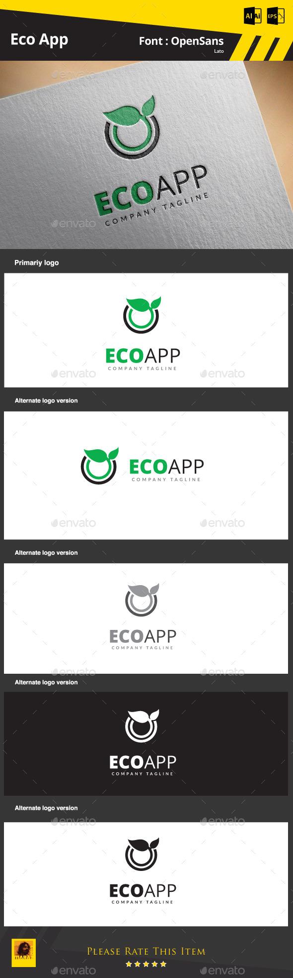 GraphicRiver Eco App 9091256