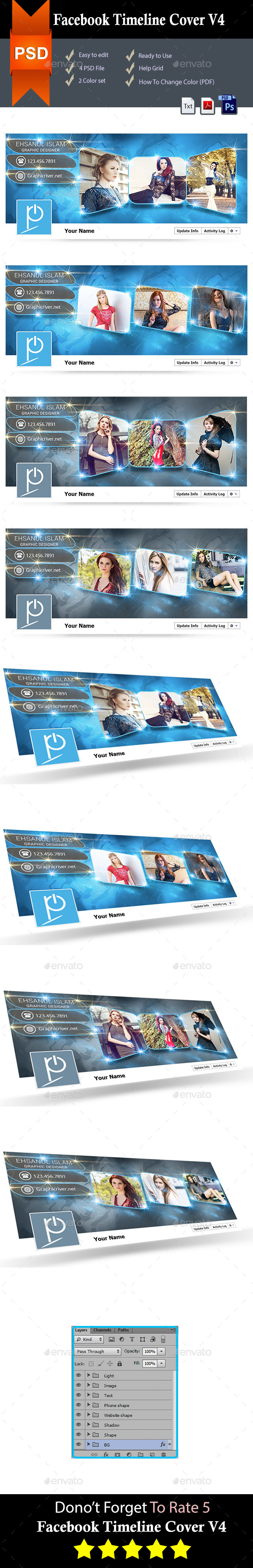 GraphicRiver Facebook Timeline Covers V4 9091443